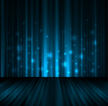 podium stage christmas and new year night background Vector