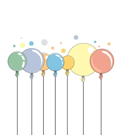Abstract color shiny balloons border background Illustration