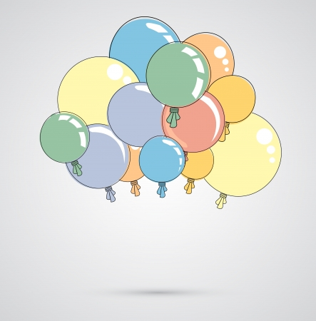 Abstract color shiny balloons background