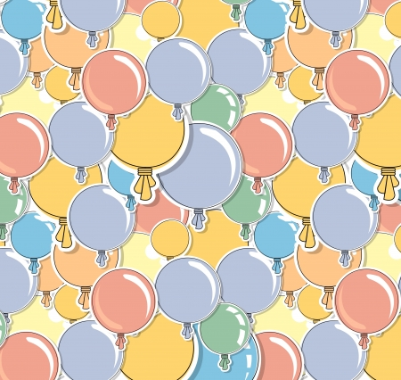 levitation: Abstract color shiny balloons background texture