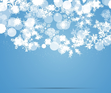 snow storm: blue snowflakes background Illustration
