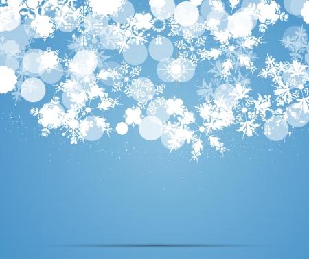 winter wonderland: fiocchi di neve sfondo blu Vettoriali