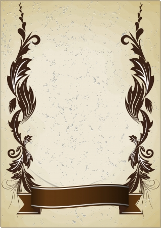 vintage background with ribbon Vector