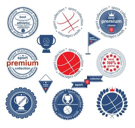 Set of vintage and modern sport elements labels for sale Stock Vector - 16252763