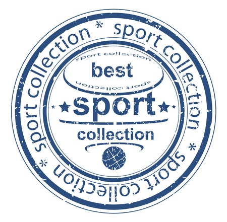 Grunge sport collection rubber stamp Vector
