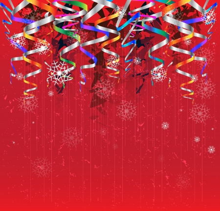 christmas and new year ribbon abstract sky background Stock Vector - 16252757