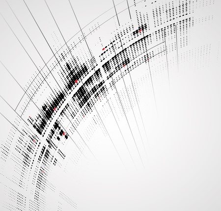 network port: Abstract bright technology dynamic fade background Illustration