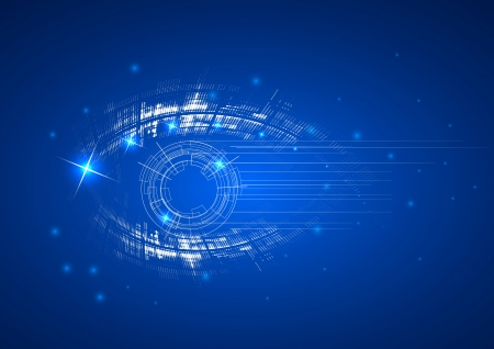 wireless technology: Abstract bright technology dynamic eye fade background