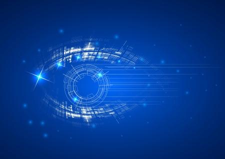 eyesight: Abstract bright technology dynamic eye fade background