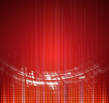 gateway: Abstract red technology dynamic fade background