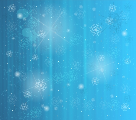 abstract winter background with snowflakes Stock Vector - 16477422