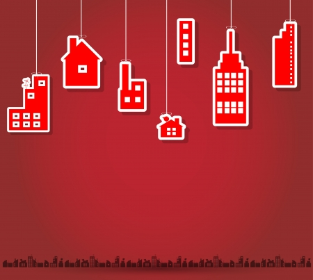 real estate city background landscape Vector