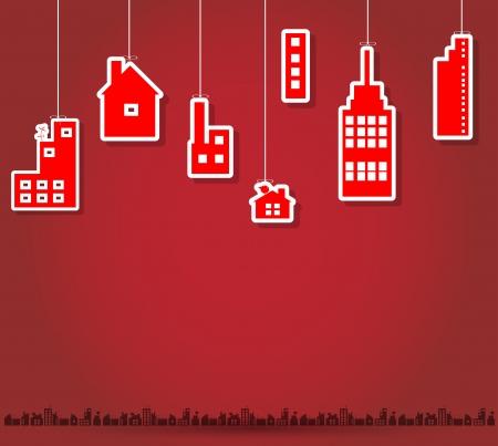 mega city: real estate city background landscape