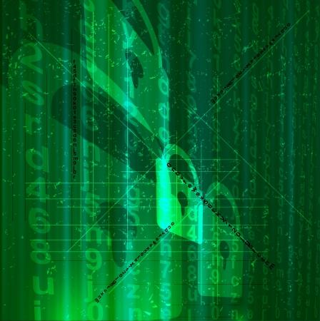 Digital abstracto conceptual de la tecnología digital, fondo de seguridad Ilustración de vector