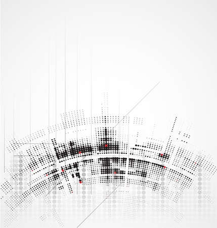 Abstract round technology dynamic fade background Stock Vector - 16600847