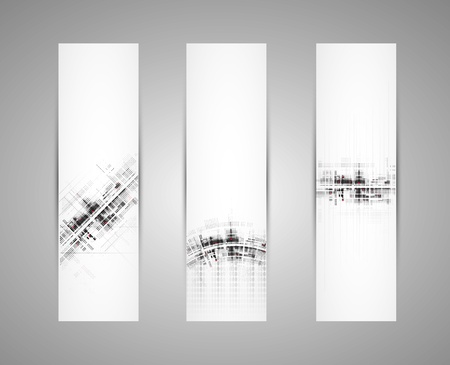 Abstract technology dynamic fade banner background Stock Vector - 16615948