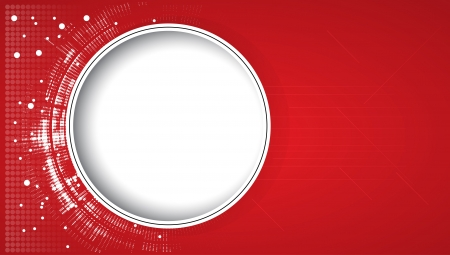 Abstract new red technology dynamic fade banner background Illustration