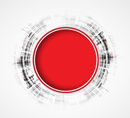 Abstract red round business technology dynamic fade background Stock Vector - 16667182