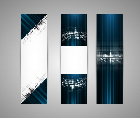 Abstract new technology dynamic fade banner background Stock Vector - 16667185