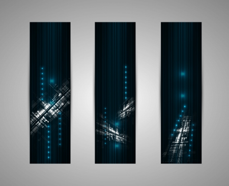 abstract dark futuristic fade technology banner business background Stock Vector - 16808683