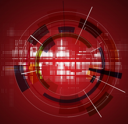 abstract red futuristic fade technology business background
