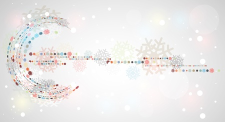 christmas and new year snow banner Stock Vector - 16808690