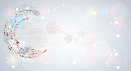 Abstract winter snow dynamic fade banner background Stock Vector - 16808687