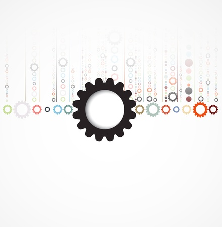 business gears: abstract futuristic gear technology business new background Illustration