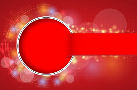 abstract futuristic red line technology business background Stock Vector - 16934932