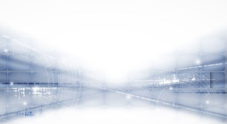 abstract futuristic light technology business bunner background Vector