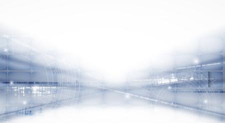 bunner: abstract futuristic light technology business bunner background