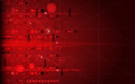 gearwheel: abstract futuristic red computer technology business background