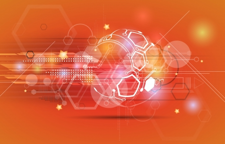 industrial scientific: abstract sport futuristic computer technology business banner Illustration