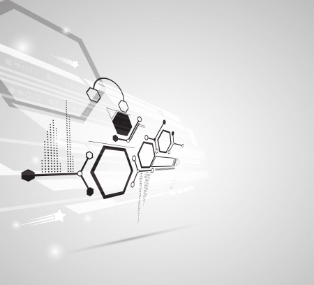 industrial scientific: abstract gray futuristic computer technology business background