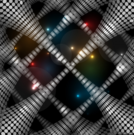 floor ball: disco light stars abstract dance background texture Illustration