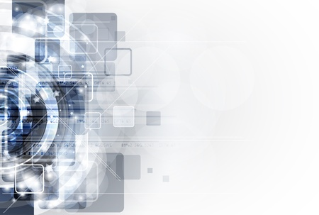 abstract grey computer technology business banner background Vector