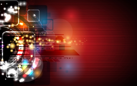 research paper: abstract red computer technology business banner background