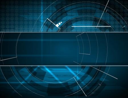 researching: tecnolog�a abstracto azul equipo de negocios fondo de la pancarta Vectores
