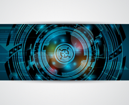 abstract high computer technology business background banner Stock Vector - 17468226