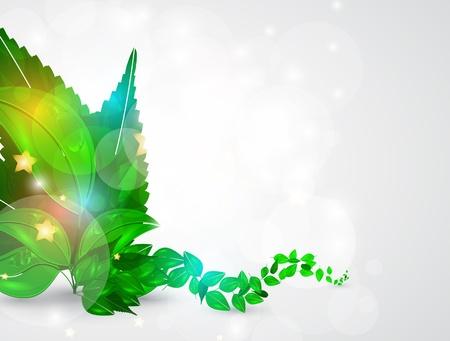 futuristic nature: abstract leaf nature futuristic background