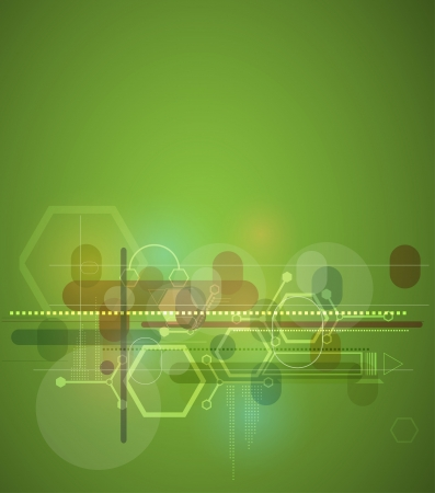 abstract blur green computer technology business background Illustration