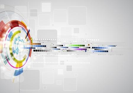 abstracto borroso rayo tecnología informática empresarial bandera