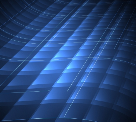 machinery space: abstract blur blue computer technology background
