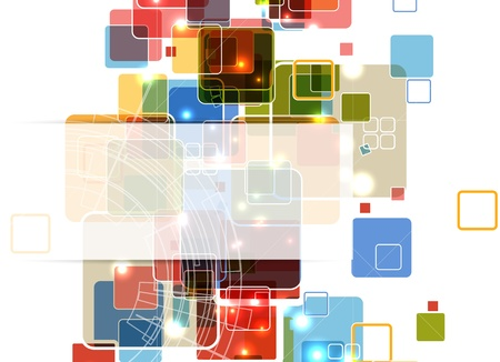 abstract futuristic cube computer technology business banner Stock Vector - 17749339