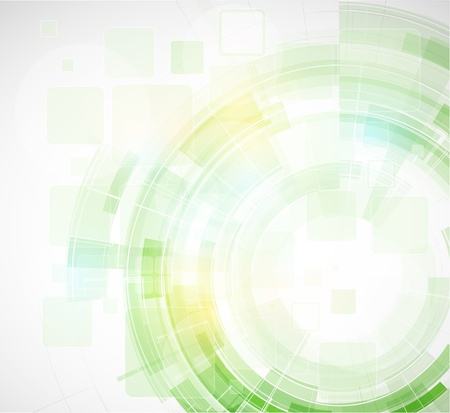 abstract blur eco green computer technology business background Illustration