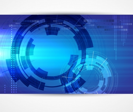 consistency: abstract futuristic dark computer technology business banner Illustration