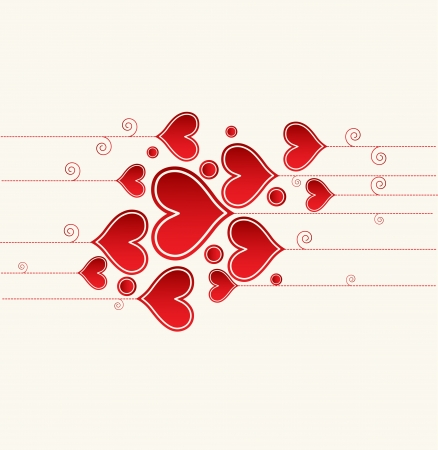 Love background with hearts valentine day card Stock Vector - 17749348