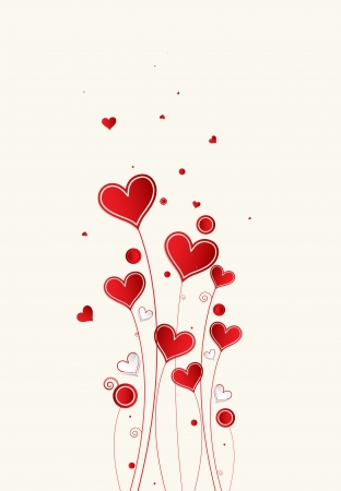 love heart: Love background with hearts valentine day card