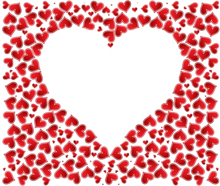 Love background with hearts valentine day card Stock Vector - 17749351
