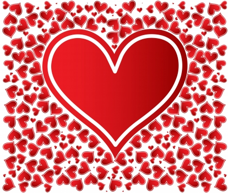Love background with hearts valentine day card Stock Vector - 17749352